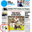 USA Today January 8, 2013 (cover)